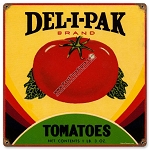 Deli Pak Tomatoes Vintage Metal Sign