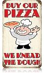 Buy Our Pizza Vintage Metal Sign