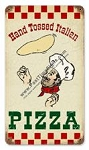 Hand Tossed Pizza Vintage Metal Sign