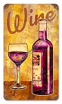 Wine Glass Metal Sign