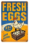 Fresh Farm Eggs Vintage Metal Sign