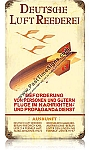 Hindenburg Advertisement Vintage Metal Sign