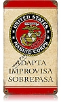Adapta Improvisa Sobrepasa Vintage Metal Sign