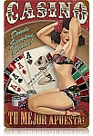 Casino Espanol Vintage Metal Sign
