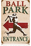 Ball Park Vintage Metal Sign