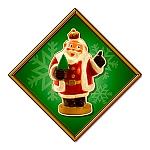 Santa Crown Metal Sign