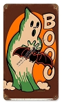 Halloween Ghost Vintage Metal Sign