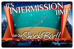 Drive In Intermission Vintage Metal Sign