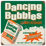 Dancing Bubbles Detergent Vintage Metal Sign