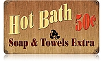 Hot Bath Vintage Metal Sign