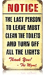 Clean Bathroom Vintage Metal Sign