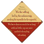 Mission Statement Vintage Metal Sign