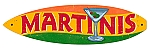 Martinis Surfboard Metal Sign