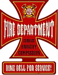 Fire Department Vintage Metal Sign