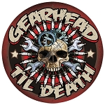 Gearhead 'Til Death Round Metal Sign