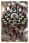 Death or Glory Vintage Metal Sign