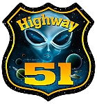 Highway 51 Vintage Metal Sign