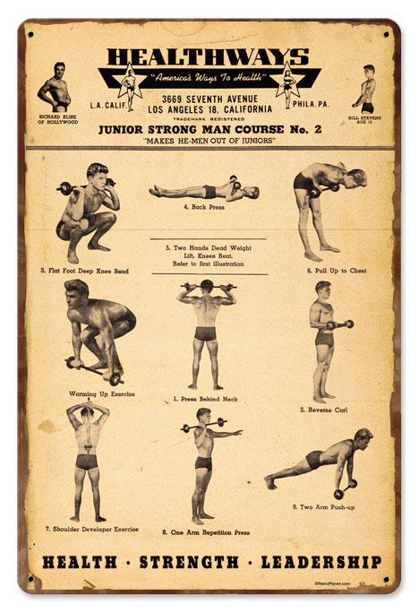 Auto Part Stores >> Healthways Gym Vintage Metal Sign