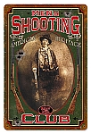 Men's Shooting Club Vintage Metal Sign