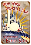 New York World's Fair Vintage Metal Sign