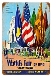 1939 World's Fair Vintage Metal Sign