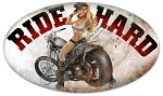 Ride Hard Vintage Metal Sign