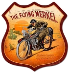 Flying Merkel Vintage Metal Sign