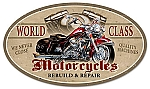 World Class Motorcycles Vintage Metal Sign