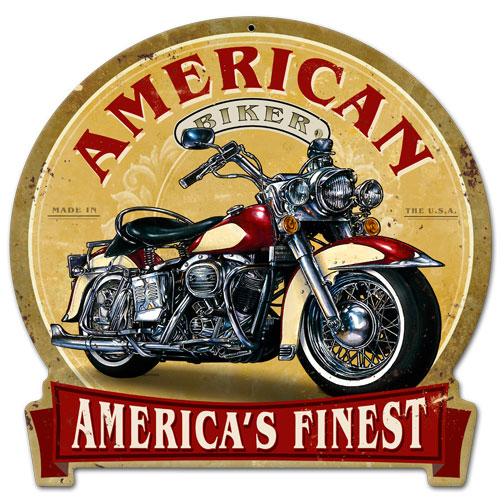American biker vintage metal sign - American motorbike garage ...