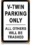 V-Twin Parking Vintage Metal Sign