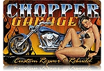 Chopper Garage Vintage Metal Sign