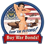 B25 War Bonds Vintage Metal Sign