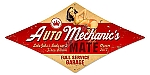 Auto Mechanic Pinup Girl Vintage Metal Sign