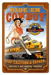 California Zephyr Pin Up Girl Vintage Metal Sign