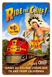 Super Chief Pin Up Girl Metal Sign
