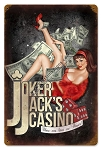 Joker Jack's Casino Vintage Metal Sign