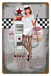 50's Pump Girl Pinup Vintage Metal Sign