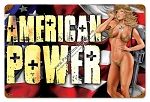 American Power Pinup Vintage Metal Sign