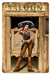 Bandita Saloon Pinup Vintage Metal Sign