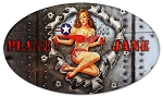 Plane Jane Pinup Vintage Metal Sign