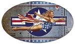 Plane Pinup Vintage Metal Sign