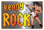 Ready to Rock Vintage Metal Sign