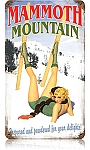 Mammoth Mountain Vintage Metal Sign