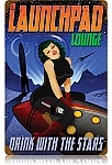 Launch Pad Lounge Vintage Metal Sign