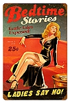 Bedtime Stories Vintage Metal Sign