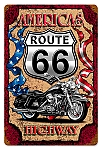 America's Highway Vintage Metal Sign