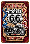 Route 66 Americas Highway Vintage Metal Sign