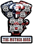 Mother Road V Twin Vintage Metal Sign