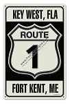 Route 1 Vintage Metal Sign