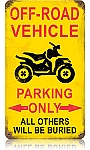 Off Road Parking Vintage Metal Sign